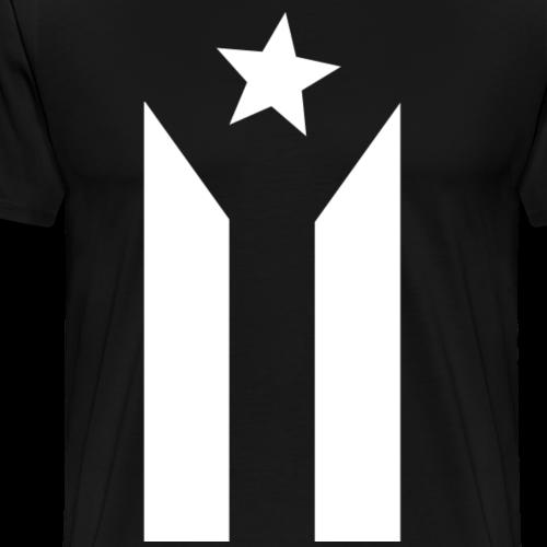 PUERTO RICO BLACK FLAG - Men's Premium T-Shirt