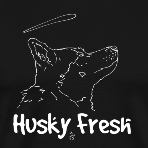 Dog Shirt | Husky Fresh 4th White - Men's Premium T-Shirt