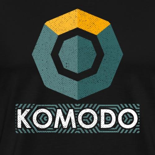 Komodo KMD Logo Cryptocurrency Blockchain - Men's Premium T-Shirt