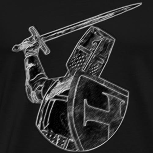 Crusader Black and White - Men's Premium T-Shirt