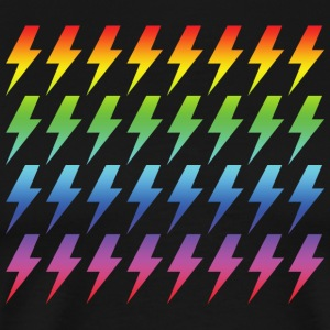 Retro Rainbow Lightning Bolt Repeated Pattern - Men's Premium T-Shirt