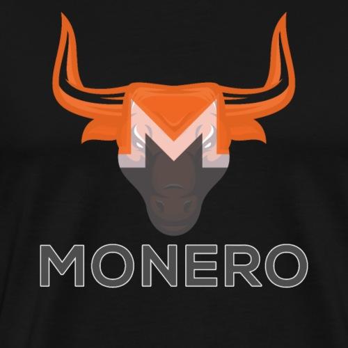 MONERO XMR Bull Logo Crypto Hodler - Men's Premium T-Shirt