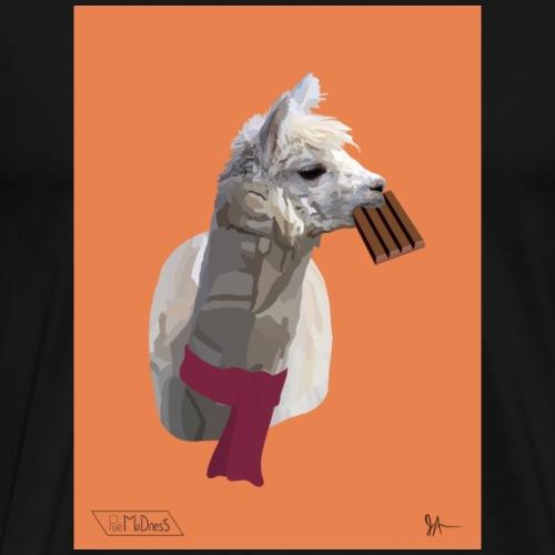 Scarf Llama - Men's Premium T-Shirt