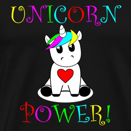 Unicorn Power! Version 2 - Men's Premium T-Shirt