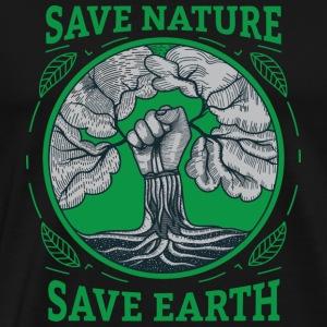 Save Nature Save Earth Revolution - Men's Premium T-Shirt
