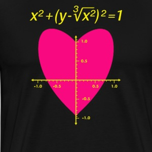 Love (Heart) Equation - Men's Premium T-Shirt