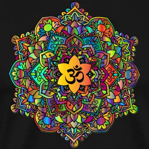 Colorful Om Mandala - Men's Premium T-Shirt
