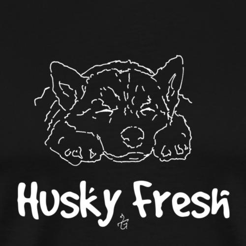 Dog Shirt | Husky Fresh 2nd White - Men's Premium T-Shirt
