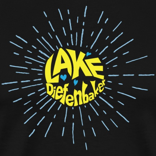 Lake Diefenbaker Sunburst - Men's Premium T-Shirt