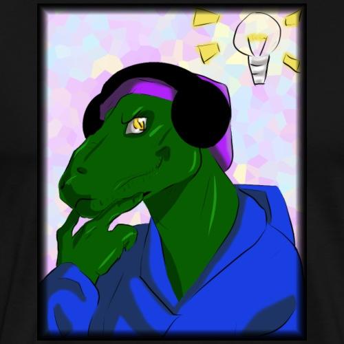 The Thinking Raptor - Men's Premium T-Shirt