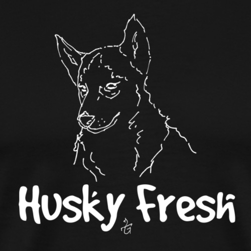 Dog Shirt | Husky Fresh 3rd White - Men's Premium T-Shirt