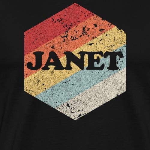 Janet Shirt Vintage Retro Distressed Birthday Gift - Men's Premium T-Shirt