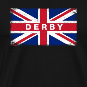 Derby Shirt Vintage United Kingdom Flag T-Shirt - Men's Premium T-Shirt