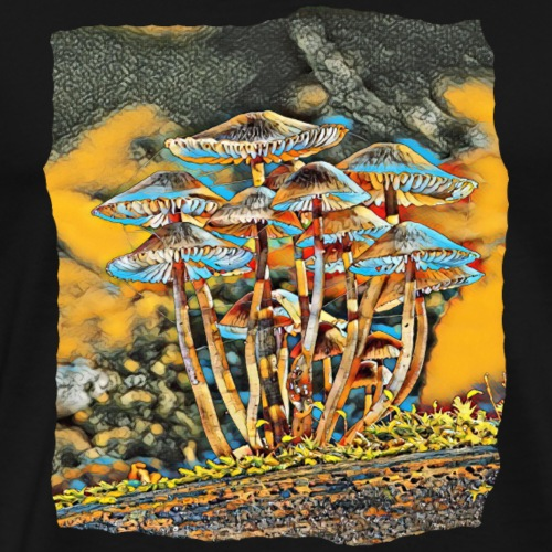 PSILOCYBIN MUSHROOMS! (NEURAL ART EFFECT). - Men's Premium T-Shirt
