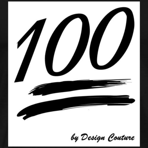 100 BLACK - Men's Premium T-Shirt