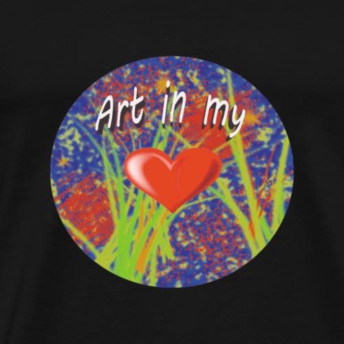 Art in my heart - Men's Premium T-Shirt
