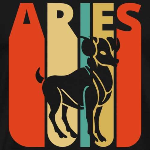 Vintage Zodiac Aries Gifts for Birthday, Christmas - Men's Premium T-Shirt