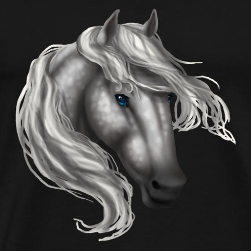Grey Dapple Blue Eye Horse - Men's Premium T-Shirt