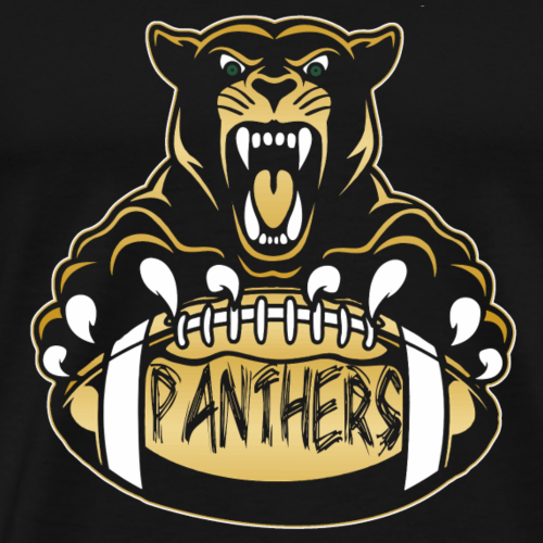 Panther with football transparent for black shirts - Men's Premium T-Shirt