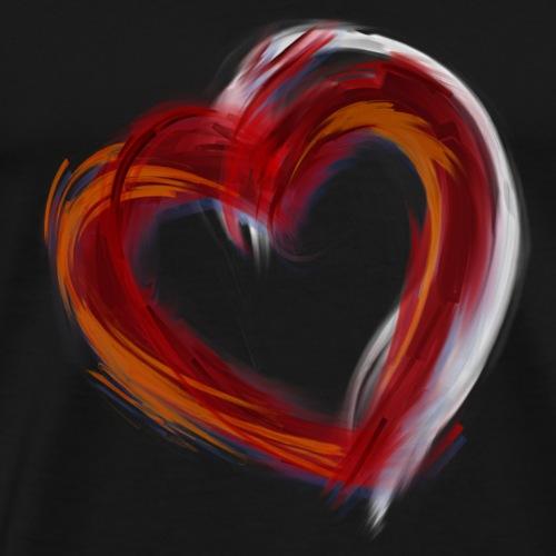 Grunge Red Heart - Men's Premium T-Shirt