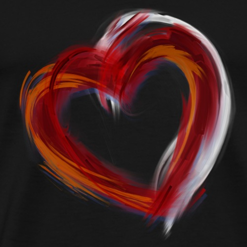 Grunge Red Heart - Men's Premium T-Shirt