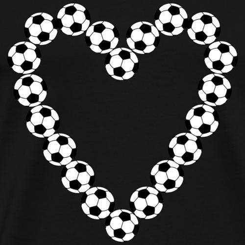 Soccer Ball Heart - Men's Premium T-Shirt