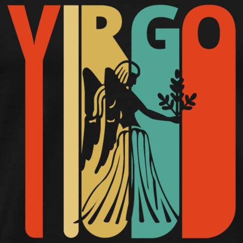 Vintage Retro Virgo Zodiac for Birthday, Christmas - Men's Premium T-Shirt
