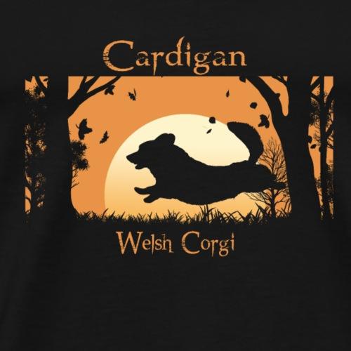 Autumn Run - Cardigan Corgi - Men's Premium T-Shirt