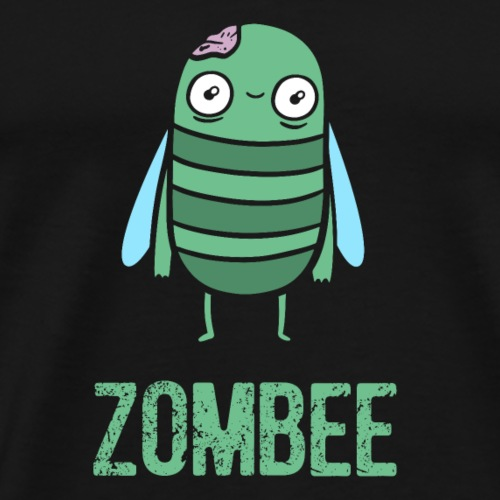 Halloween Zombie Bee Cartoon Fun - Men's Premium T-Shirt
