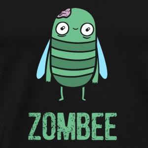 Halloween Zombie Bee Cartoon Fun - Men's Premium T-Shirt