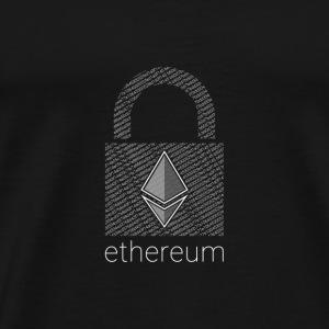 Ethereum Lock in White - Men's Premium T-Shirt