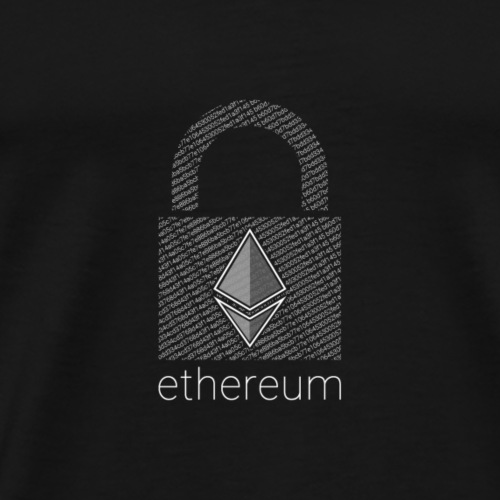 Ethereum Lock in White - Men's Premium T-Shirt