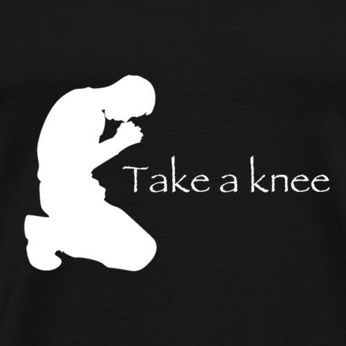 Take a knee white edition - Men's Premium T-Shirt