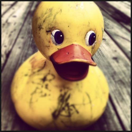 Duck of a lost childhood. - Men's Premium T-Shirt