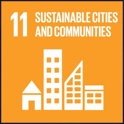 E SDG Goal 11 sustainable cities and communities - Men's Premium T-Shirt