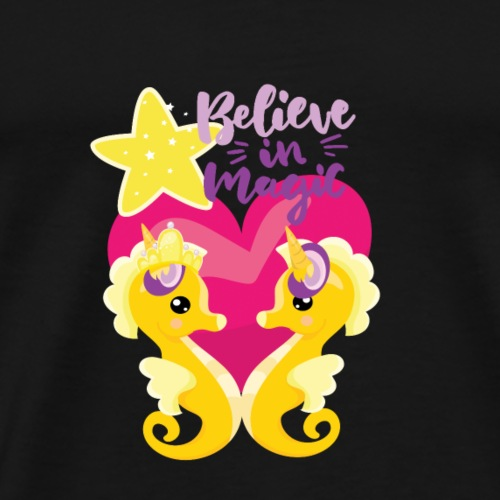 Is it a seahorse? Is it a unicorn? Is it Love? - Men's Premium T-Shirt