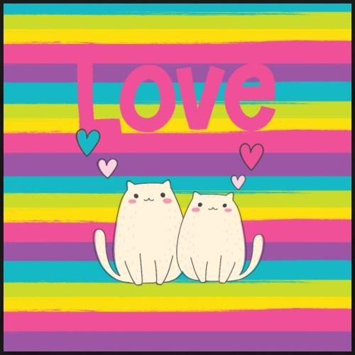 Valentine Cats in love - Men's Premium T-Shirt