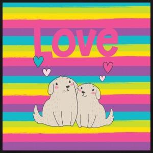 Valentine Puppies in Love - Men's Premium T-Shirt