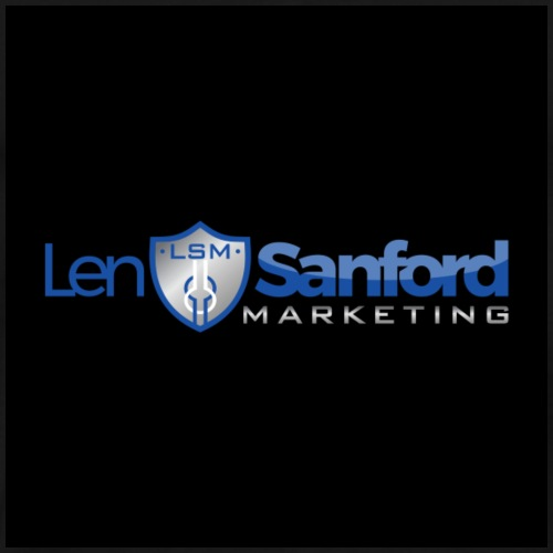 Len Sanford Marketing Logo (black) - Men's Premium T-Shirt