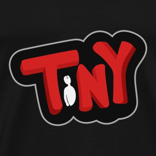 Tiny-Logo-Red-Black - Men's Premium T-Shirt