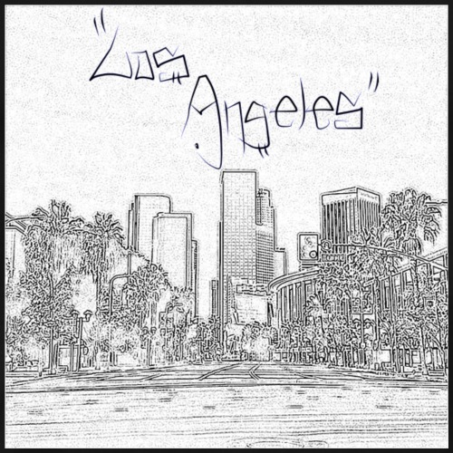 Los Angeles Downtown Skyscraper Cityscape Sunshine - Men's Premium T-Shirt