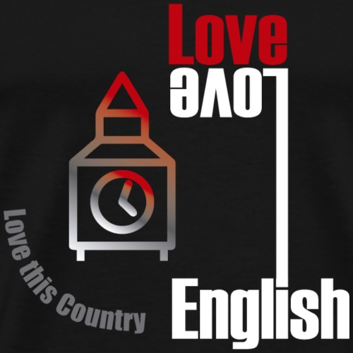 Love English, love England - Men's Premium T-Shirt