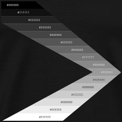 Black to White Hex Codes - Men's Premium T-Shirt