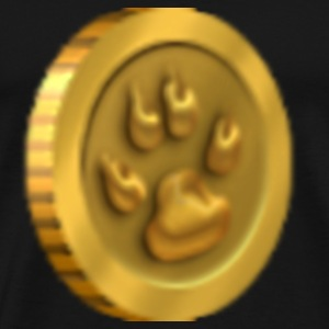 Cat Paw Coin Large - Men's Premium T-Shirt