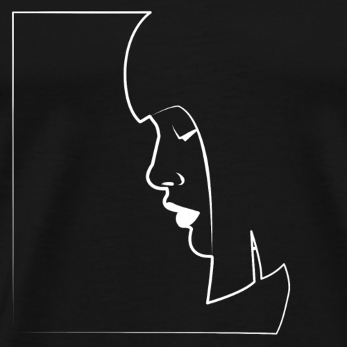 Female Face Comic Style - Men's Premium T-Shirt