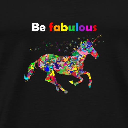 Fabulous unicorn perfect gift idea - Men's Premium T-Shirt