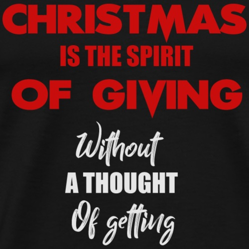 christmas is the spirit - Men's Premium T-Shirt