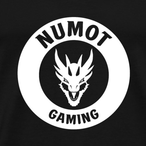 Numot Gaming Logo - White on Black - Men's Premium T-Shirt