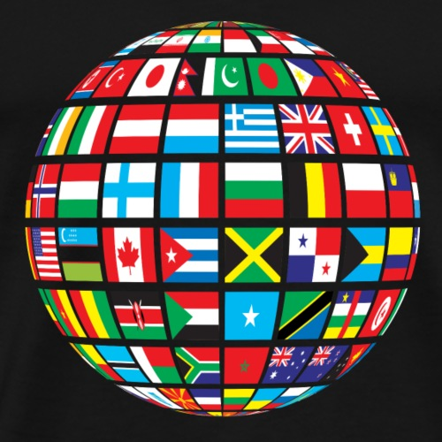 World Flags Design - Men's Premium T-Shirt