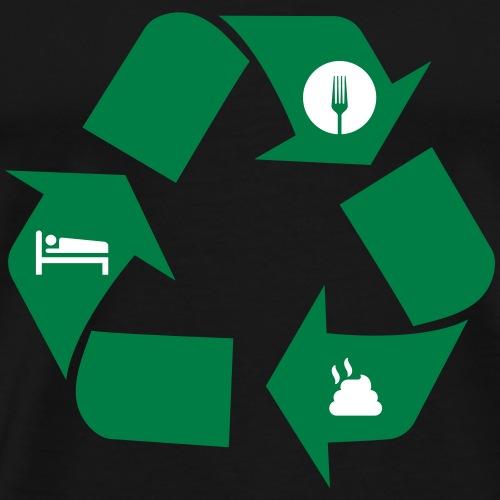 Eat poop sleep - Men's Premium T-Shirt